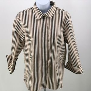 Orvis Wrinkle Free Womens Button Up Shirt Size 10